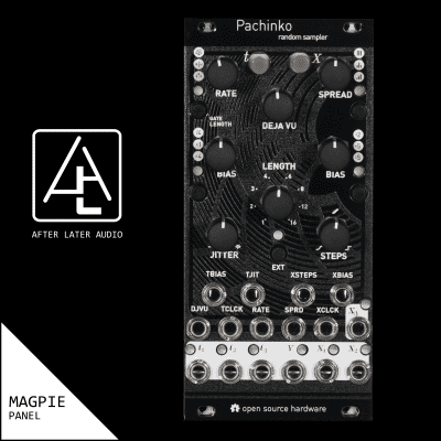 Pachinko - Micro Marbles (uMarbles) - Mutable Instruments Clone  - Textured Black Magpie Panel