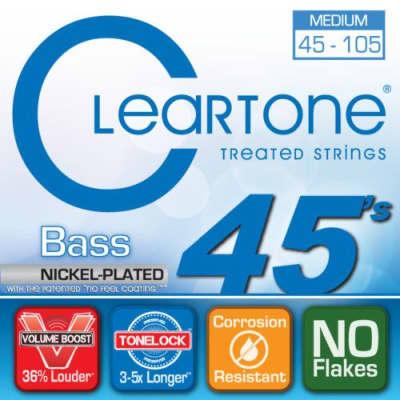 Cleartone Treated Medium 45 - 105 Bass Strings