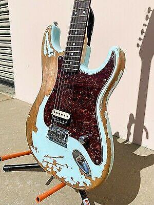 Allen Eden Custom Shop Sepulveda Relic Strat Sonic Blue with Seymour Duncan SH12