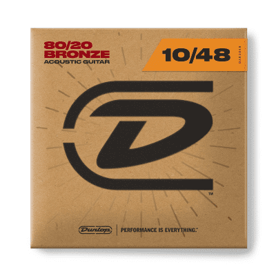 Dunlop DAB1048 80/20 Bronze Acoustic Guitar Strings - Extra Light (10-48)