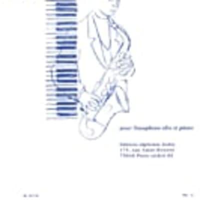 Eugene Bozza AL19714 Aria for Alto Saxophone and Piano//Aria pour Saxophone Alto