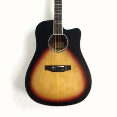 Haze Dreadnought Spruce Solid top Acoustic Guitar Natural CD60SCBS for sale