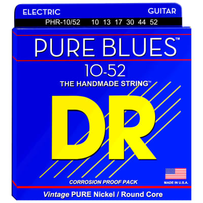 DR Strings PHR-10/52 PURE BLUES™ Pure Nickel Electric Big-Heavy 10-52