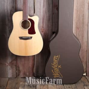 Washburn HD100SWCEK Heritage Dreadnought Cutaway with Electronics Natural