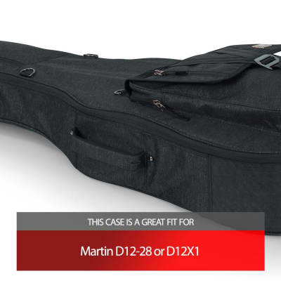 Gator Charcoal Transit Case fits Martin D12-28 or D12X1
