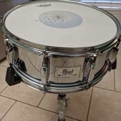 Pearl COS 5.5x14 10 Lug Steel Snare  Chrome