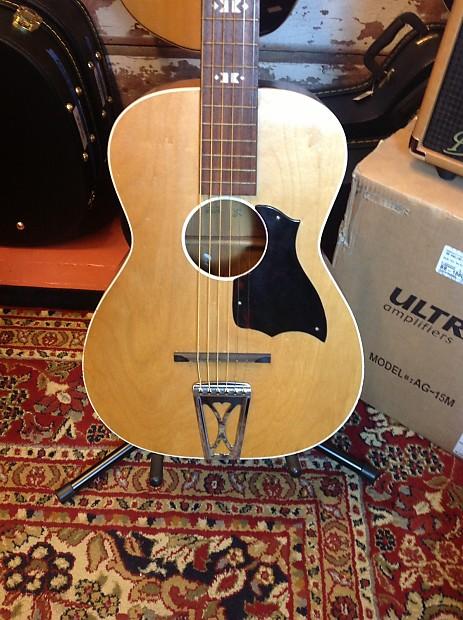 vintage harmony stella acoustic guitar 1960s natural reverb. Black Bedroom Furniture Sets. Home Design Ideas