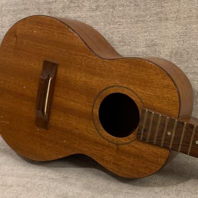 Vintage 1960's Harmony Baritone Ukelele Mahogany USA TLC Top Crack for sale