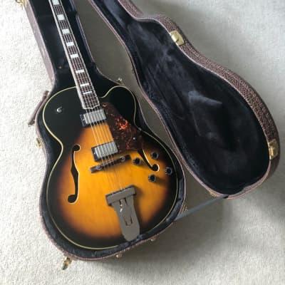 Antoria Jazzstar Archtop Jazz Guitar Sunburst with Schaller Tuners and Hard Case for sale
