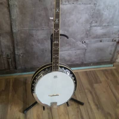 Hondo 5 String Banjo Fancy Inlay 22 Fret TKL Case for sale