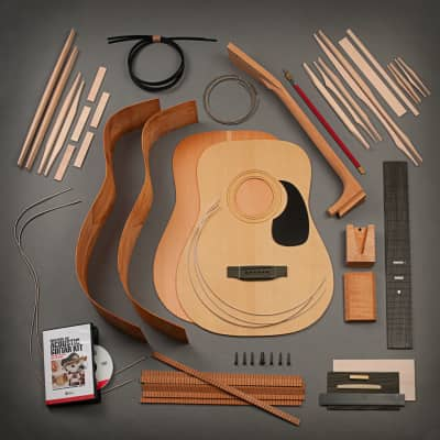 StewMac Dreadnought Acoustic Guitar Kit, Dovetail Neck, Torrefied Top, Mahogany Back & Sides for sale