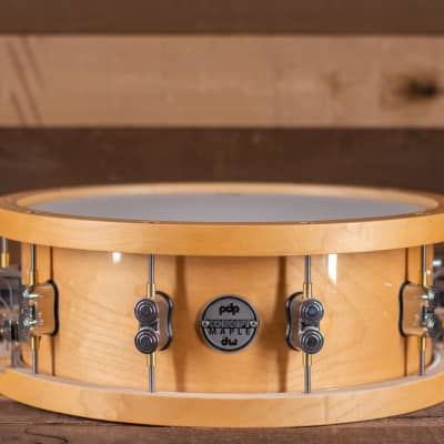 """PDP Concept Series Wood Hoop Maple Snare - 5.5""""x14"""""""
