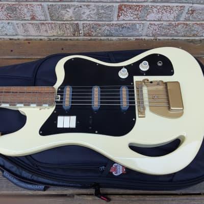 Vintage Circa 1964 Teisco TB-64 Six String Bass Guitar w/ Gator Gig Bag! Extremely Rare, Japanese Model! for sale
