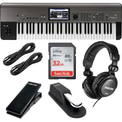 Korg Krome EX 61 – Music Workstation, Sustain Pedal, Nektar NX-P, (2) 1/4 Cables, Tascam TH-02, SD Card 32GB Bundle