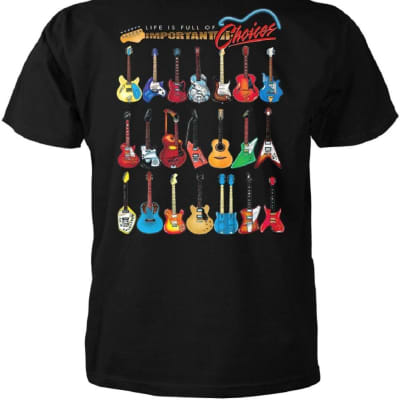 Aim Gifts Life is Full of Important Choices Guitar T-Shirt XL