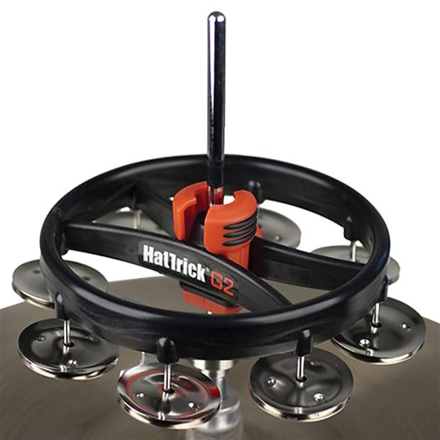 rhythm tech hat trick g2 hi hat tambourine steel reverb. Black Bedroom Furniture Sets. Home Design Ideas