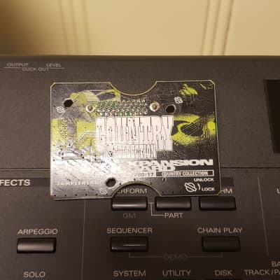 Roland ROLAND SR-JV80-17 COUNTRY COLLECTION Used Synthesizer Expansion Board    Green