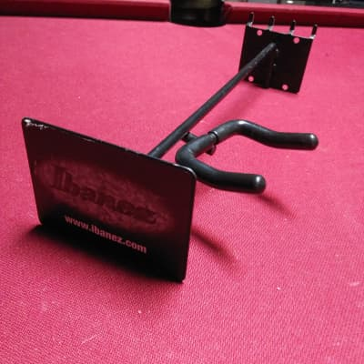 Ibanez Guitar Hanger Right Side Angled Slatwall Hook Black Holder