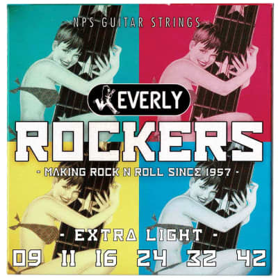 Everly 9009 Rockers Extra Light 9-41 NPS Electric Guitar Strings for sale