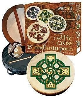 Waltons 15 Bodhran Gift Set Brosna Cross