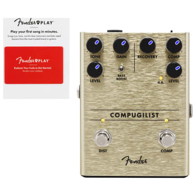 Fender 0234551000 Compugilist Compressor/Distortion w/ Fender Play Card