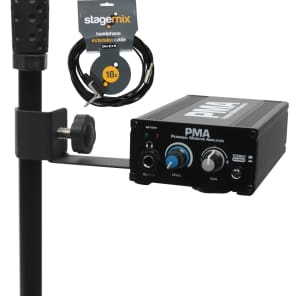 Elite Core Audio EC-PMA-SP Station Pack Wired In-Ear Monitor Amp/Stand Bundle