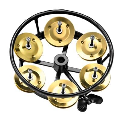 """Meinl THH1B-BK 5"""" Hi-Hat Tambourine w/ 5 Brass Jingles"""