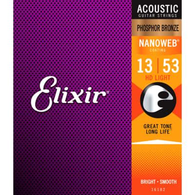 Elixir Acoustic Phosphor Bronze Nanoweb HD Light .013-.053