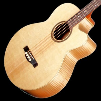 Teton STB130FMCENT 130 Series Solid Sitka Spruce Top Mahogany 4-String Acoustic-Electric Bass Guitar for sale
