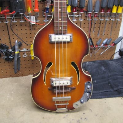 Klira Twen Star Twin Star Circa 1965 Sunburst Vintage Bass for sale
