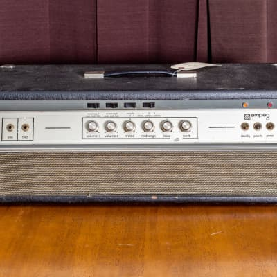 Ampeg V-4 100-Watt Amp Head w/ reverb, recently serviced, early 70's