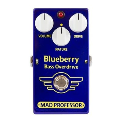Mad Professor Blueberry Bass Overdrive Bass Guitar Effect Pedal for sale