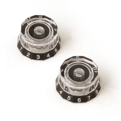 PRS Lampshade Knobs - Clear with Black Numbers