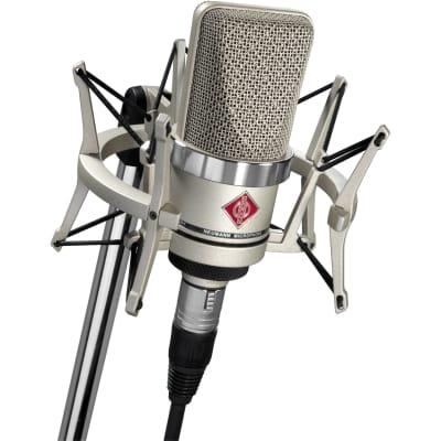 New Neumann TLM 102 Nickel Studio Set 008656 Condenser Microphone & EA-4 Shock Mount