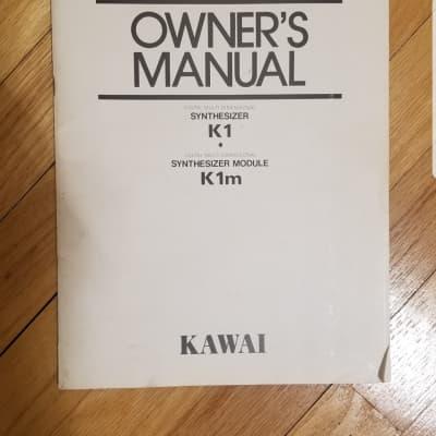 Kawai K1 Owners Manual