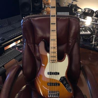 Fender American Elite Jazz Bass V Tobacco Burst + Plus Shipping for sale