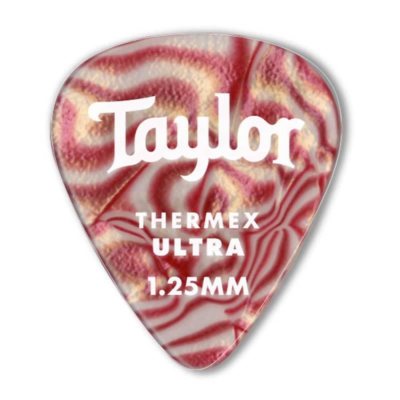 Taylor Picks Thermex 351-1.25mm Ruby Swirl Ultra 6-pc