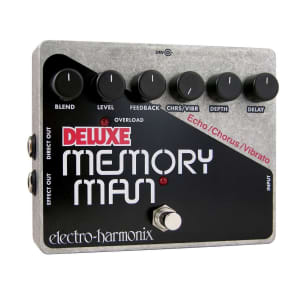 Electro Harmonix Deluxe Memory Man 550ms Analog Delay/Chorus/Vibrato Pedal for sale