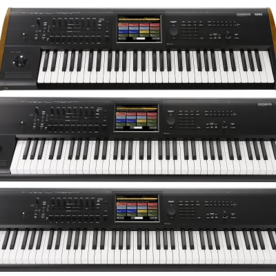 Korg KRONOS 2 88-Key Digital Synthesizer Workstation 2019 Black/Wood