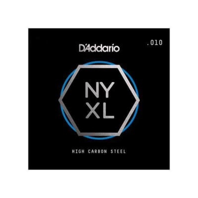 D'Addario NYXL Single Plain Carbon Steel Guitar String - .017