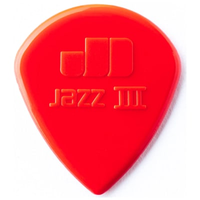 Dunlop Jazz III Red Nylon Pick (6-Pack)