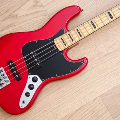 2015 Fender Geddy Lee Jazz Bass Limited Edition USA Crimson Red w/ Lollars, Case for sale