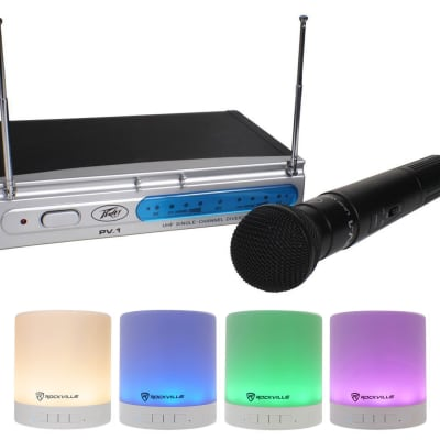 Peavey PV-1 U1 HH 911.70 Mhz Mic Wireless Handheld Microphone System + Speaker