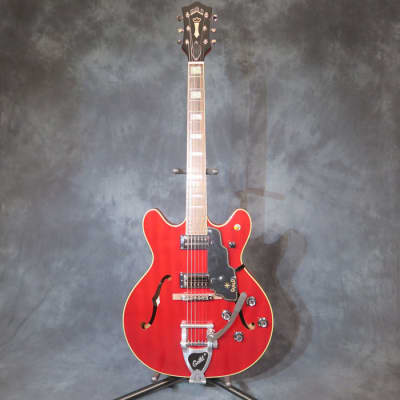 Guild Starfire V Cherry Red Semi Hollow Body Electric Guitar + Hard Case for sale
