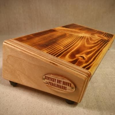 Hot Box 2.0 Mini Rough Rider - Burned Pine Pedalboard by KYHBPB - P.O.