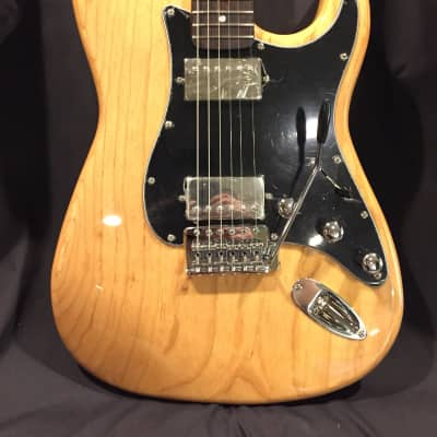 E11even Guitars HH Stratocaster Style Natural Ash with Gig Bag