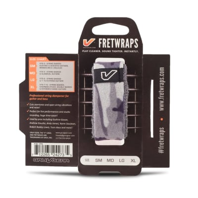 NEW GRUVGEAR FRETWRAP STRING MUTER - WHITE CAMO - SMALL
