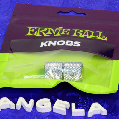 Set Of Two Ernie Ball '52 Style Chrome Dome Knobs For Fender Telecaster  New