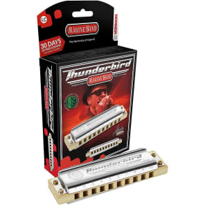 Hohner M2011BXL-E Marine Band Thunderbird Harmonica - Key of Low E