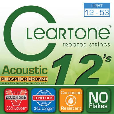 Cleartone 7412 Acoustic Strings, Phosphor Bronze, Light, 12-53, Original Packing